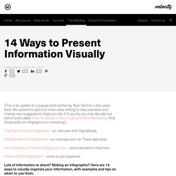 14 Ways to Present Information Visually