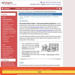 Present Perfect Simple or Present Perfect Progressive - Lingolia English