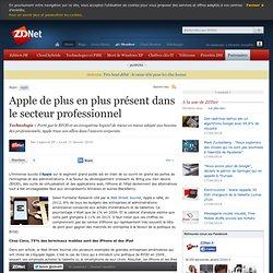 Apple de plus en plus présent dans le secteur professionnel
