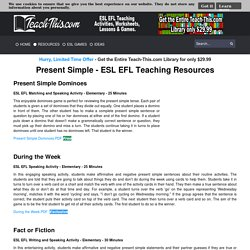 Simple Present - ESL EFL Teaching Resources