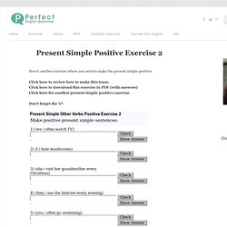 Present Simple Exercise 2