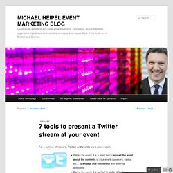 7 tools to present a Twitter stream at your event | MICHAEL HEIPEL EVENT MARKETING BLOG