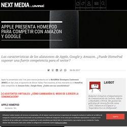 Apple presenta HomePod para competir con Amazon y Google