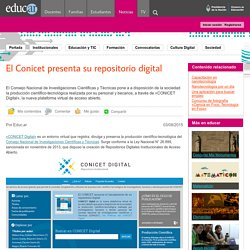 El Conicet presenta su repositorio digital