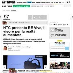 Il nuovo visore per la AR: RE Vive di HTC