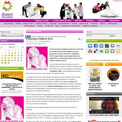 Presentació FEMITIC 2012 - Dones en Xarxa - Dones en Xarxa