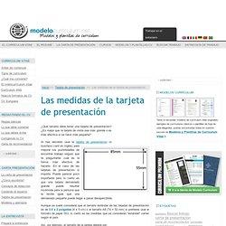 Las medidas de la tarjeta de presentación