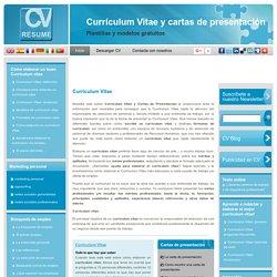 Curriculum vitae y Carta de presentacion. Modelos y plantillas de CV para hacer curriculums: CV Resume