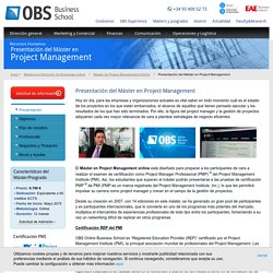 Master de Project Management Online. Requisitos · OBS Online Business School