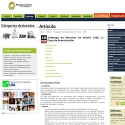 Catálogo de Patrones de Diseño J2EE. I.- Capa de Presentación