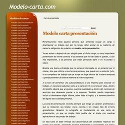 Modelo carta de presentación - Trabajos,servicios y CV a empresas.
