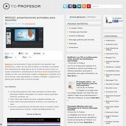 MOOVLY, presentaciones animadas para docentes