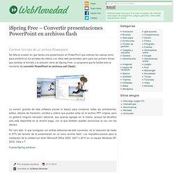 iSpring Free – Convertir presentaciones PowerPoint en archivos flash