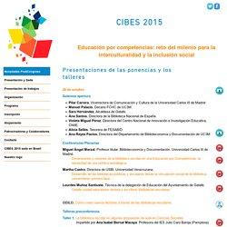 Presentaciones CIBES2015 Congreso Iberoamericano Bibliotecas Escolares
