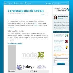 5 presentaciones de Node.js