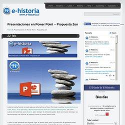 Presentaciones en Power Point – Propuesta Zen- Un portal de historia y TIC