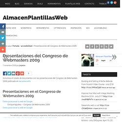 Presentaciones del Congreso de Webmasters 2009