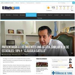 """Presentarán a los docentes una oferta similar a la de estatales: 18% y """"cláusula gatillo"""" - El Diario de Luján"""