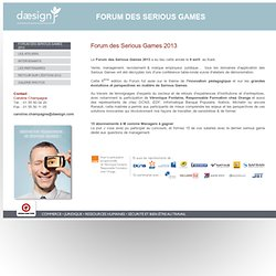 Le Forum des Serious Games 2010