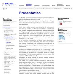 Présentation de la 1ère exposition monographique de Renaud Auguste-Dormeuil