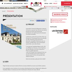 Présentation - Académie Balzac