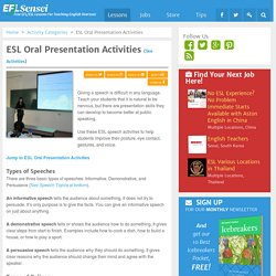 ESL Oral Presentation Activities