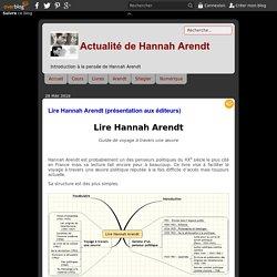 Lire Hannah Arendt (présentation aux éditeurs) - Actualité de Hannah Arendt