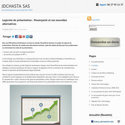 Logiciels de présentation : Powerpoint et ses nouvelles alternatives – JDCHASTA SAS
