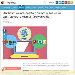 The best free presentation software and other alternatives to Microsoft PowerPoint