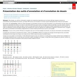 Adobe Acrobat Standard / Présentation des outils d'annotation