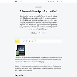 9 Presentation Apps for the iPad