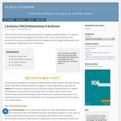 Présentation d'Arduino - Tuto Arduino - Le blog d'EskimonLe blog d'Eskimon