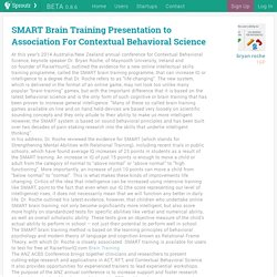 Sproutr - SMART Brain Training Presentation to Association For Contextual Behavioral Science