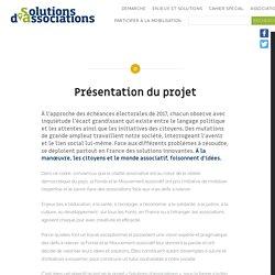 Présentation du projet - Solutions d'associations