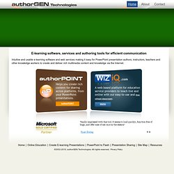 E-learning Software, Services and Authoring Tools from authorGEN