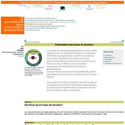 SEIG : Présentation des bases de données