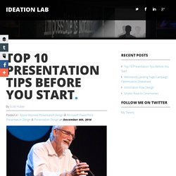 Top 10 Presentation Tips Before You Start
