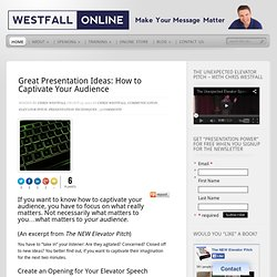Great Presentation Ideas: How to Captivate Your Audience
