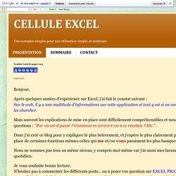 Cellules EXCEL
