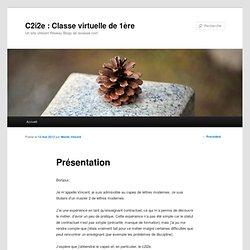 C2i2e : Classe virtuelle de 1ère
