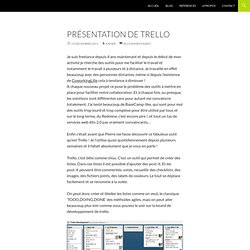 Présentation de Trello, un outil agile de collaboration