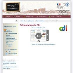 Présentation du CDI - Collège Claude Monet - Bussy St Georges