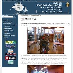 Présentation du CDI - Collège Vincent Van Gogh CLICHY 92