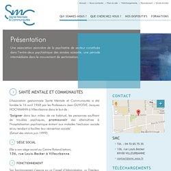 Présentation - SMC, Santé Mentale et Communautés