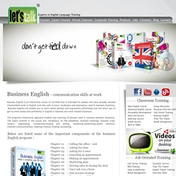 Business English - Self Learning, effective presentation skills, communication skills training, business english program, business etiquette training, corporate training CD