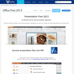 Kingsoft Presentation Free 2013, PPT, PPTX compatible. Download for free - Kingsoft Office
