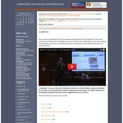 Presentation on computational social science