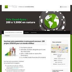 Concours 200 projets pour un monde meilleur