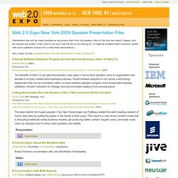 Presentation Files: Web 2.0 Expo New York 2009 - Co-produced by