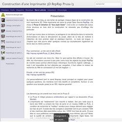Blog sur montage PRUSA i3